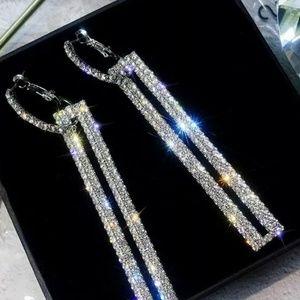 Sparkling Rhinestone earrings.